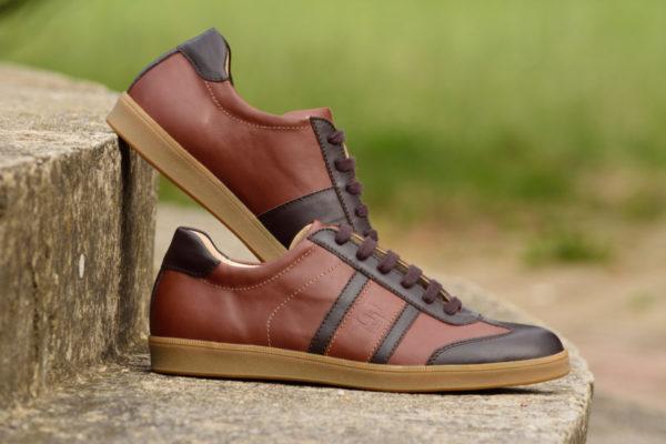 G&T bőr sportcipő Sziena - Kakaó