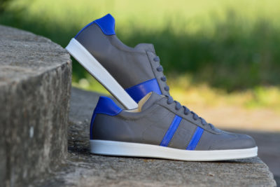 G&T férfi bőr sportcipő Szürke - Kobalt