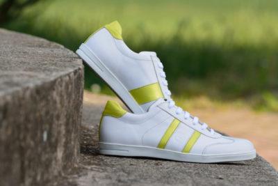 G&T női bőr sportcipő Fehér - Neon zöld