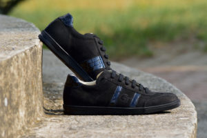 G&T bőr sportcipő Ében- Fekete Lakk