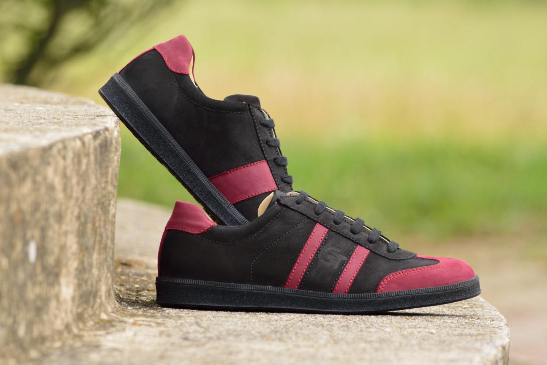 G&T bőr sportcipő Ében - Meggy - Fekete