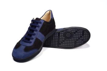 G&T bőr sportcipő Ében- Óceán