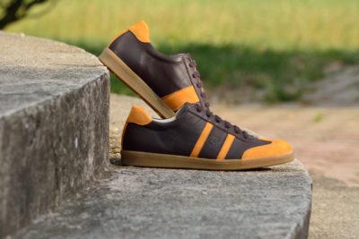 G&T bőr sportcipő Kakaó - Borostyán