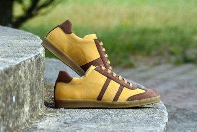 G&T bőr sportcipő Okker - Gesztenye