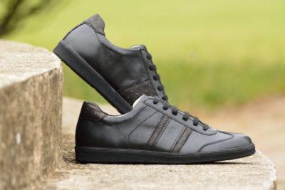 G&T bőr sportcipő Fekete - Strucc