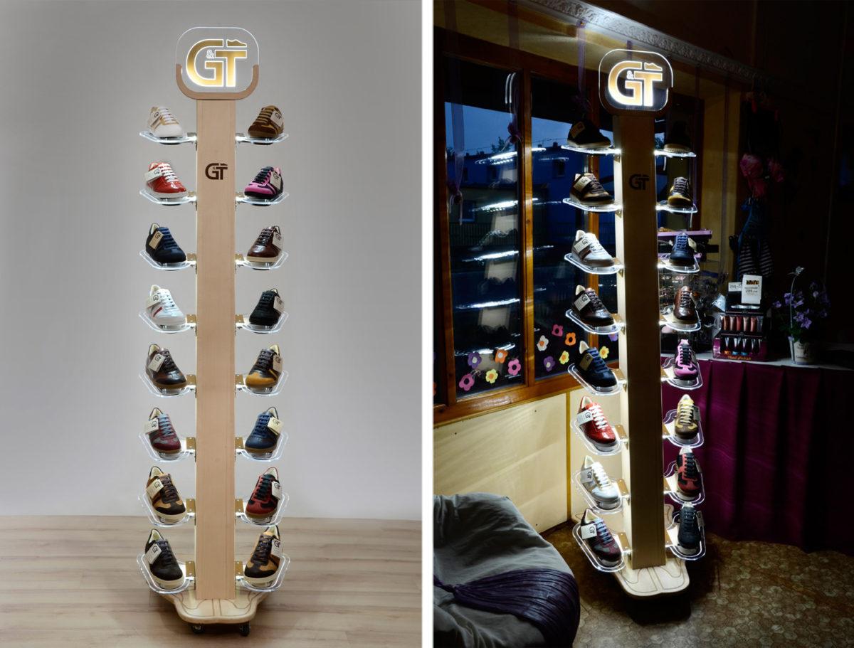 G&T cipős bemutató állvány
