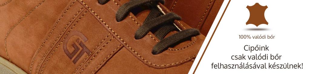 G&T cipők csak valódi bőr felhasználásával