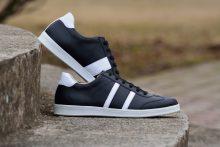G&T bőr sportcipő Fekete - Fehér nappa