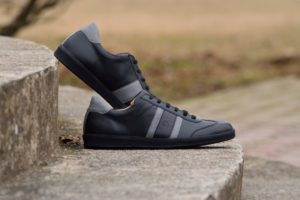 G&T bőr sportcipő Fekete - Szürke nappa