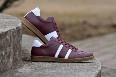 G&T bőr sportcipő Meggy - Fehér nappa