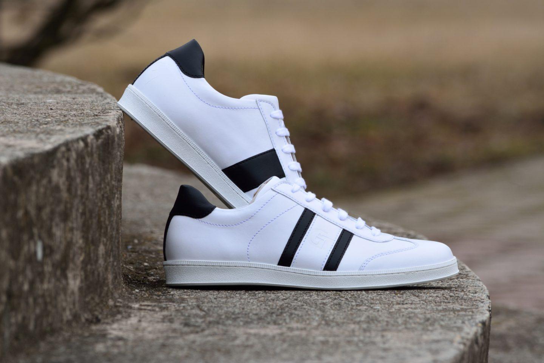 G&T bőr sportcipő Fehér - Fekete nappa
