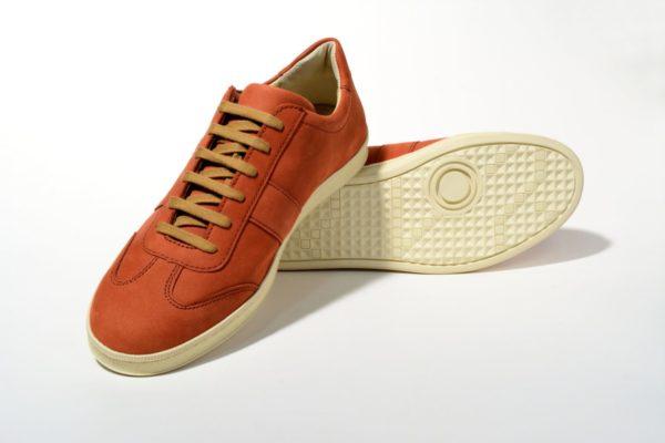 G&T bőr sportcipő -Tégla