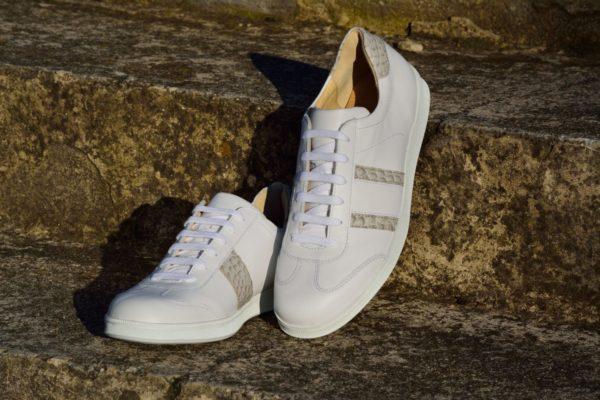 G&T bőr sportcipő Fehér - Kroki light