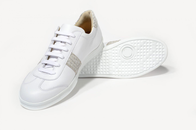 db7356373c G&T bőr sportcipő - Fehér - Kroki light - különleges nyomott bőr ...