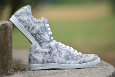 G&T Ezüst Virág cipő