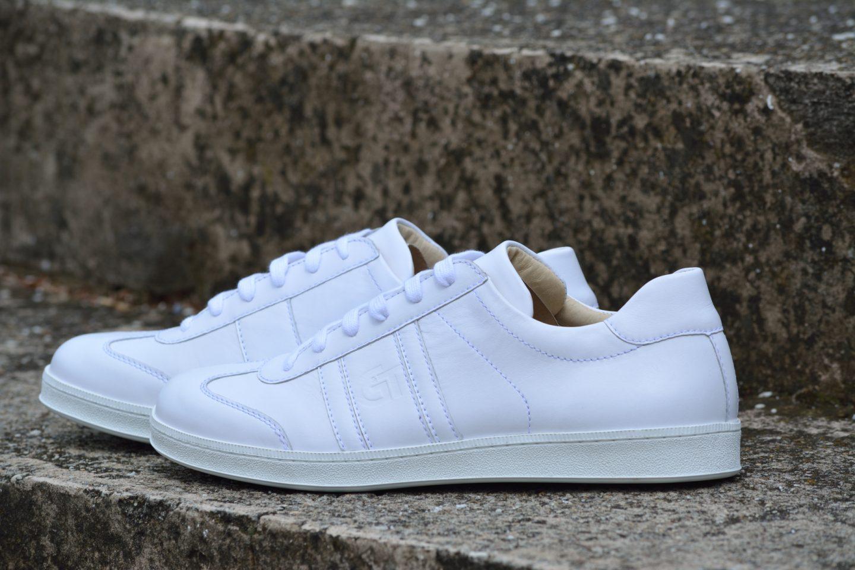 6763f774cf G&T bőr sportcipő - Fehér - nappa - cipő a 80'-as évek stílusában