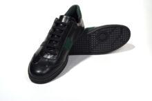 G&T Fekete - Zöld nappa cipő