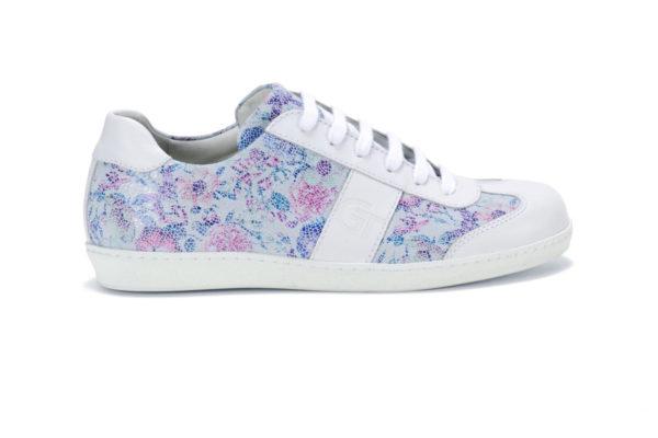 G&T Tavasz Virág - Fehér női bőr sportcipő