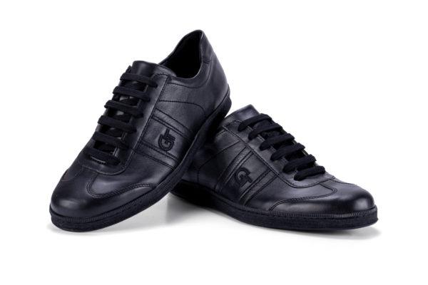 G&T Klasszikus Full Black bőr sportcipő