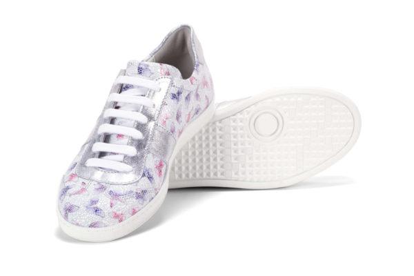 G&T Kék - Pink Pillangó - Ezüst női cipő