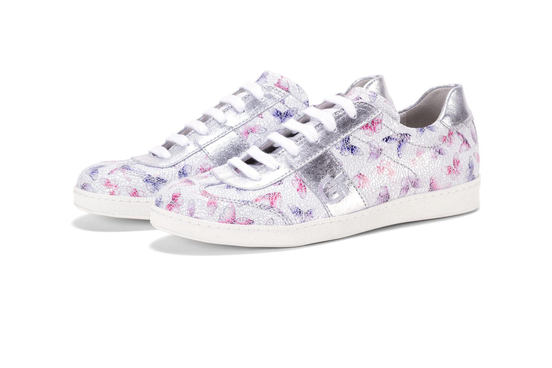 G T Kék - Pink Pillangó - Ezüst női cipő - különleges mintával csak ... b431fb3206