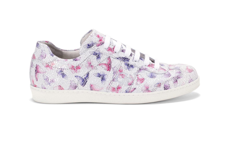 G T Kék - Pink Pillangó női cipő - különleges pillangó mintával bőrből c4ab243bcb