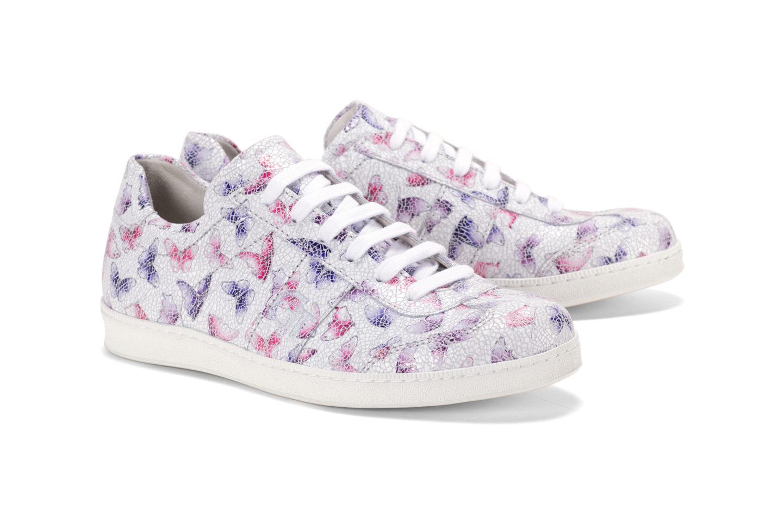 c318f0707c G&T Kék - Pink Pillangó női cipő - különleges pillangó mintával bőrből
