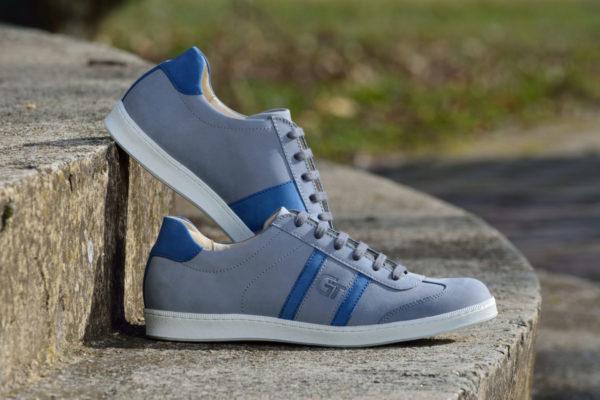 G&T Szürke - Navy Blue nubuk bőr sportcipő
