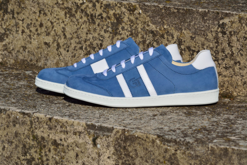 G&T Navy Blue - Fehér bőr sportcipő