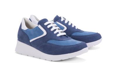 G&T Alina - Navy Blue - Óceán nubuk női cipő