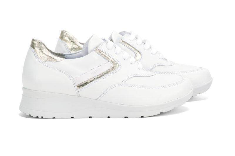 G&T Alina, Fehér - Arany nappa női cipő