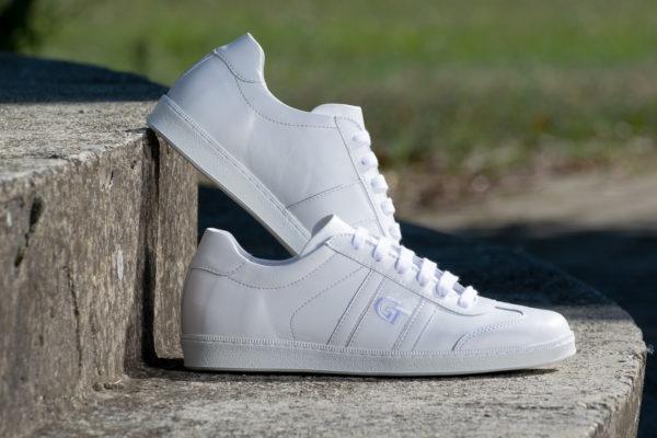 G&T Klasszikus Full White bőr sportcipő