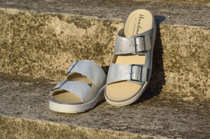 G&T Bianka Azúr - Ezüst női kényelmi papucs