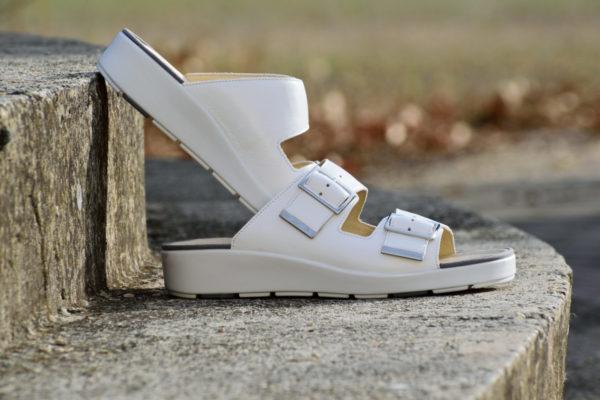 G&T Bianka Fehér bőr papucs