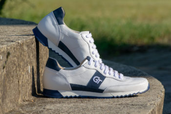 G&T Aktív Fehér - Óceán bőr sportcipő