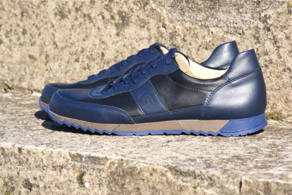 G&T Aktív Fekete - Óceán bőr sportcipő