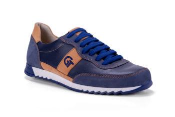 G&T Aktív Jeans bőr sportcipő