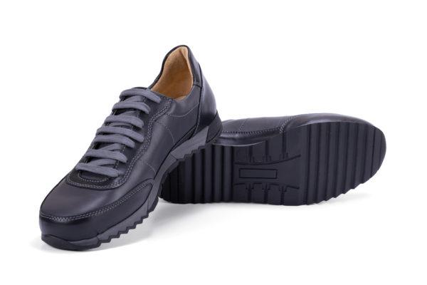 G&T Aktív Pala - Fekete bőr sportcipő