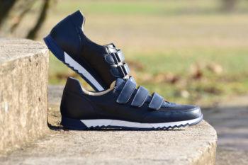 G&T Aktív-T Fekete - Óceán tépőzáras bőr sportcipő