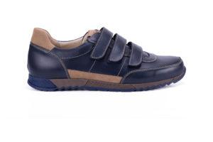 G&T Aktív-T Óceán - Latte tépőzáras bőr sportcipő