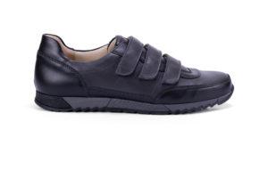 G&T Aktív-T Szürke - Fekete tépőzáras bőr sportcipő