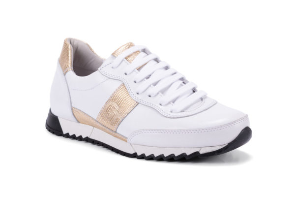 G&T Aktív Fehér - Arany Mozaik női bőr sportcipő
