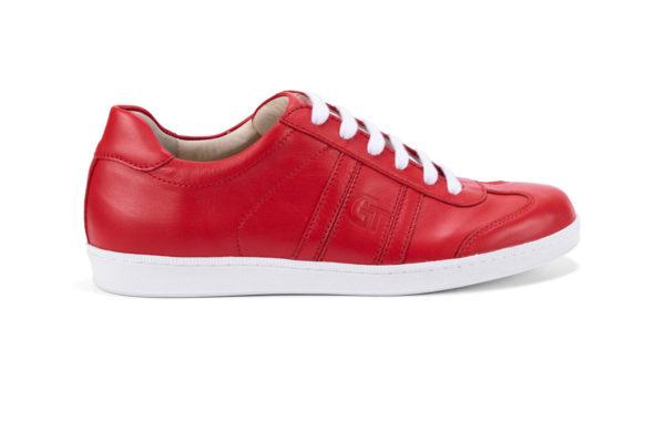 G&T Klasszikus Full Red bőr sportcipő