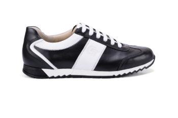 G&T PRO-19 Fekete - Fehér bőr sportcipő