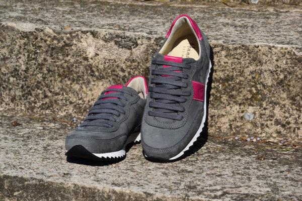 G&T Aktív Hamu - Pink bőr sportcipő