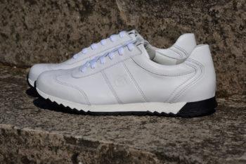 G&T PRO-19 Full White bőr sportcipő