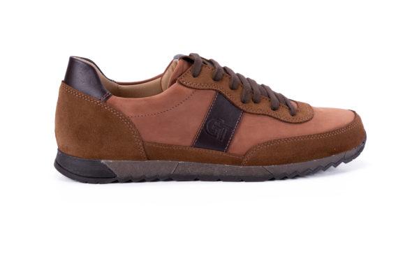 G&T Aktív Barna Trió férfi bőr sportcipő