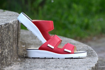 G&T Brigitta Piros női bőr kényelmi papucs