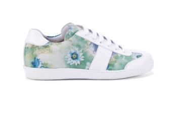 G&T Klasszikus Pasztell Virág - Fehér női bőr sportcipő