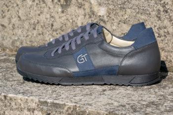 G&T Aktív Hamu - Óceán bőr sportcipő hímzett logóval